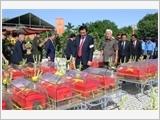 Truy điệu, an táng 269 hài cốt liệt sĩ quân tình nguyện Việt Nam