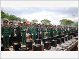 An táng 23 hài cốt liệt sĩ hy sinh tại Campuchia