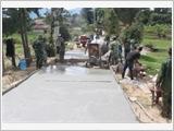 Lực lượng vũ trang tỉnh Kon Tum chung sức xây dựng nông thôn mới