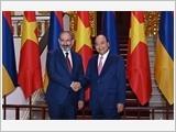 Thủ tướng Chính phủ Nguyễn Xuân Phúc đón, hội đàm với Thủ tướng Ác-mê-ni-a N.Pa-si-ni-an