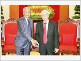 Tổng Bí thư, Chủ tịch nước Nguyễn Phú Trọng tiếp Thủ tướng Ma-lai-xi-a M.Mô-ha-mét
