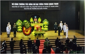 Cử hành trọng thể Lễ viếng, Lễ truy điệu đồng chí Đại tướng Phùng Quang Thanh