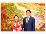 NA Chairwoman holds talks with Chinese National People's Congress leader