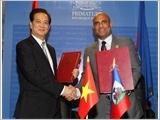 越南和海地发表联合声明