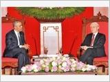 越南党、国家领导人会见美国总统奥巴马