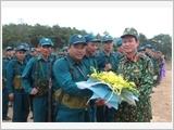 广宁省武装力量加大决胜竞赛运动力度