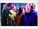 河静省边防部队推动群众运动工作向前迈进