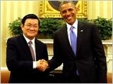 Tuyên bố chung của Chủ tịch nước Cộng hòa XHCN Việt Nam Trương Tấn Sang và Tổng thống Hợp chủng quốc Hoa Kỳ Ba-rắc Ô-ba-ma.