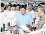 Chủ tịch nước Trương Tấn Sang làm việc tại tỉnh Thái Nguyên