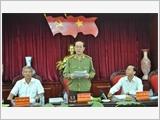 Kiểm tra việc thực hiện Nghị quyết Trung ương 4 (khóa XI) và Chỉ thị 03 của Bộ Chính trị tại Đắk Nông, Phú Yên, Tổng cục Cảnh sát Quản lý hành chính về TTATXH và tỉnh Thái Bình