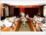 Đoàn kiểm tra của Bộ Chính trị làm việc tại tỉnh Vĩnh Phúc