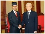Tổng Bí thư tiếp Quốc vương Malaysia