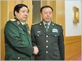 Bộ trưởng Phùng Quang Thanh hội kiến Phó Chủ tịch Quân ủy Trung ương CHND Trung Hoa Phạm Trường Long
