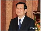 越南国家主席张晋创抵达北京出席亚太经济合作组织第22次领导人非正式会议