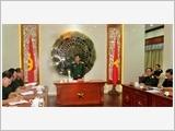 Thượng tướng Nguyễn Thành Cung kiểm tra các đơn vị phía Nam