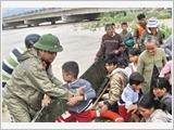Lực lượng vũ trang Quân khu 5 đẩy mạnh công tác phòng chống lụt, bão, tìm kiếm cứu nạn