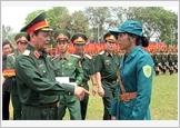 Thượng tướng Nguyễn Thành Cung kiểm tra công tác luyện tập duyệt binh, diễu hành