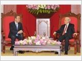 Tổng Bí thư tiếp; Chủ tịch nước đón, hội đàm; Thủ tướng hội kiến Tổng Thư ký LHQ