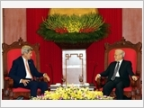 Tổng Bí thư Nguyễn Phú Trọng, Chủ tịch nước Trương Tấn Sang tiếp Bộ trưởng Ngoại giao Hoa Kỳ G.Ke-ri