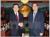 越南国家主席张晋创与老挝国家主席朱马利举行会谈