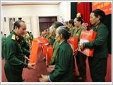 Bộ Quốc phòng gặp mặt đoàn đại biểu Cựu chiến binh Đại đội Nữ pháo cao xạ Triệu Thị Trinh tỉnh Thanh Hóa