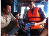二号鱼检支队向渔民加强法律普及宣传工作