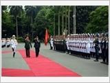 中国高级军事代表团对越南进行正式访问
