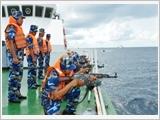 越南海警坚决、坚持斗争 维护祖国海洋海岛和平、稳定
