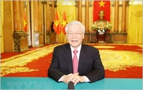 越共中央总书记、国家主席阮富仲以提交讲话录像方式参与第75届联大一般性辩论
