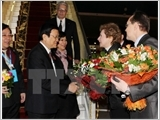 President meets Russian Communist Party leader