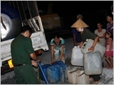 Armed forces of Military Region 9 proactively participate in the prevention of drought and salinity