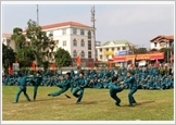 Duy Tien district enhances the quality of defense and security education
