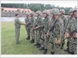 The Naval Commando Brigade 126's political education in combat training