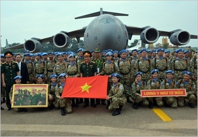 "Promoting the virtues of ""Uncle Ho's soldiers"" when participating in the United Nations peacekeeping"