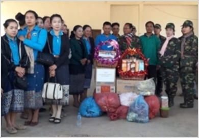 Raising the effectiveness of mass mobilisation amongst divisions of the Lao People's Army