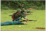The district of Cam Thuy performs the military-defence work
