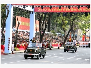 Hào hùng Lễ mít-tinh, diễu binh, diễu hành kỷ niệm 40 năm Ngày Giải phóng miền Nam, thống nhất đất nước