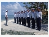 Luyện tập đội ngũ trên đảo Sơn Ca