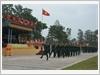 Duyệt đội ngũ trong Lễ ra quân huấn luyện năm 2017