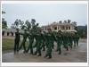 Thực hành huấn luyện điều lệnh đội ngũ cho chiến sĩ mới