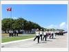 Duyệt đội ngũ trong Lễ chào cờ tại đảo Trường Sa lớn