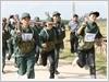 Nữ dân quân tự vệ hội thao chiến sĩ khỏe