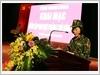 Đồng chí Nguyễn Thị Thanh, Ủy viên Ban Chấp hành Trung ương Đảng, Bí thư Tỉnh ủy, Trưởng Ban chỉ đạo diễn tập, phát biểu khai mạc