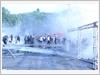 Lực lượng Công an xử trí tình huống biểu tình, bạo loạn trong Diễn tập.