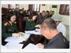 Ban Chỉ huy Quân sự quận Hoàng Mai, Bộ Tư lệnh Thủ đô Hà Nội chi trả chế độ trợ cấp một lần cho các đối tượng chính sách theo Quyết định 62/2011/QĐ-TTg và Quyết định 49/2015/QĐ-TTg của Thủ tướng Chính phủ