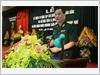 Đại tá, Tiễn sĩ Đỗ Hồng Lâm, Tổng Biên tập Tạp chí, đọc diễn văn kỷ niệm