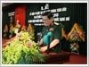 Đại tướng Ngô Xuân Lịch, Ủy viên Bộ Chính trị, Phó Bí thư Quân ủy Trung ương, Bộ trưởng Bộ Quốc phòng, phát biểu chỉ đạo buổi Lễ
