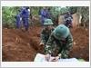 Đội tìm kiếm, quy tập mộ liệt sĩ thuộc Quân đoàn 3 thực hiện nhiệm vụ tại làng Pok, xã Ia Khươl, huyện Chư Păh, tỉnh Gia Lai