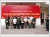 Thiếu tướng Hồ Thanh Tự, Chủ nhiệm Chính trị, Bộ Tổng Tham mưu - Cơ quan Bộ Quốc phòng tặng quà tri ân các gia đình chính sách huyện Vị Xuyên, tỉnh Hà Giang