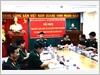 Thượng tá Nguyễn Văn Bắc - Tổng Biên tập Báo - Truyền hình Quân  khu 7 phát biểu ý kiến tại Hội nghị